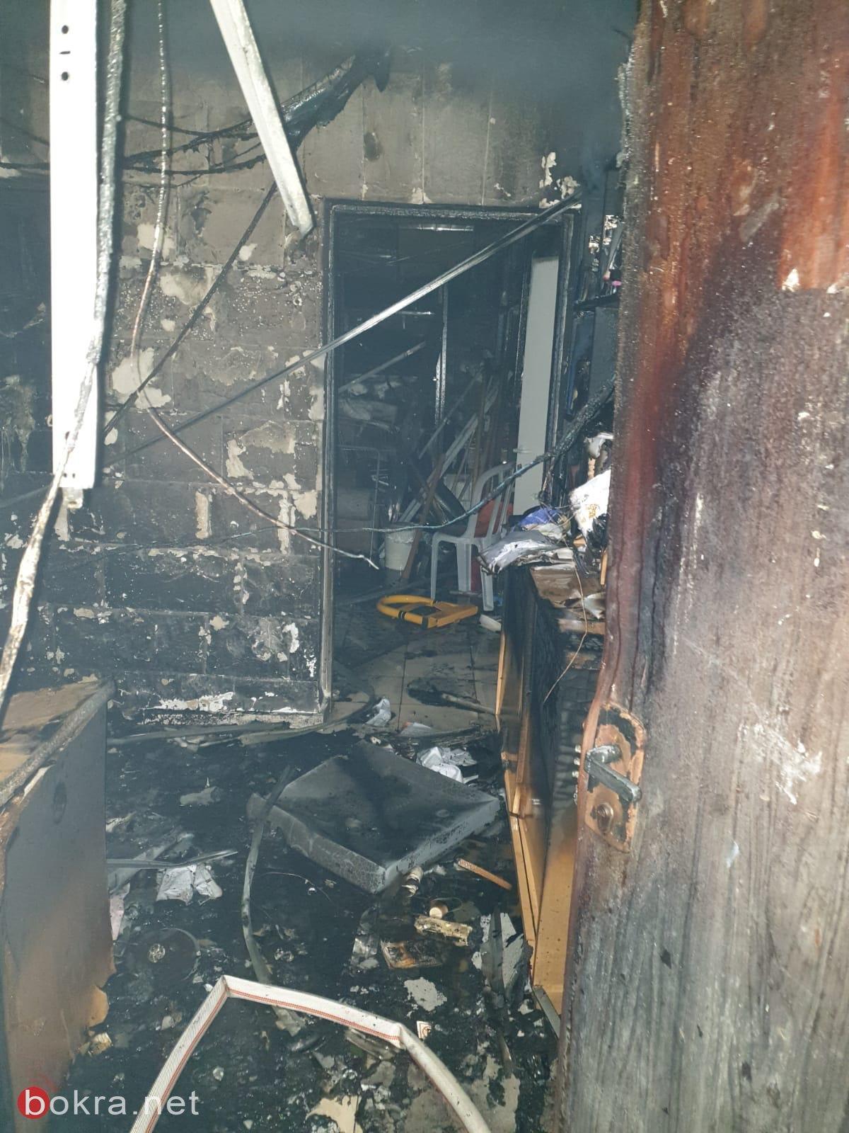 كفرياسيف: اندلاع حريق في مبنى المجلس المحلي -0