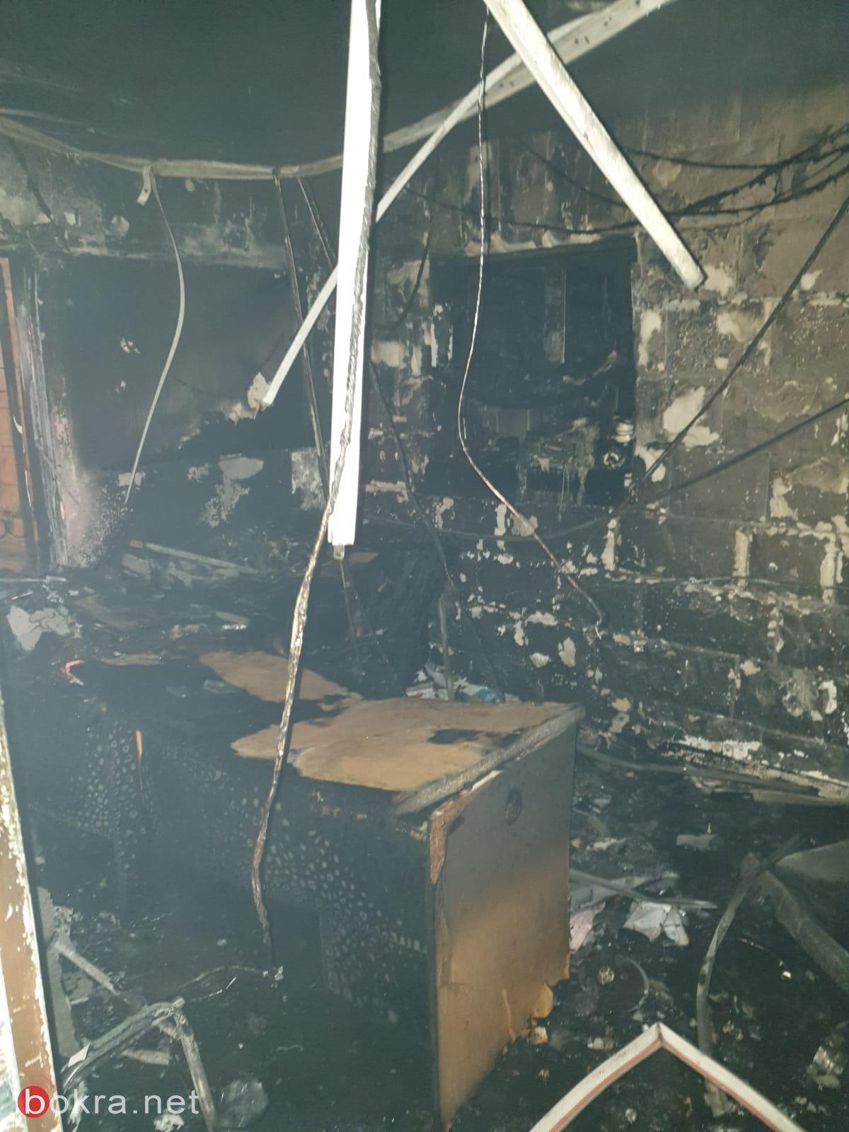 كفرياسيف: اندلاع حريق في مبنى المجلس المحلي -1