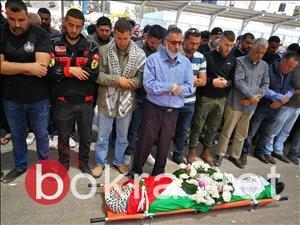 تشييع جثمان الشهيد الأسير نور البرغوثي في عابود برام الله-1