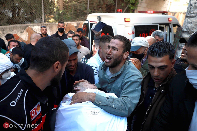 تشييع جثمان الشهيد الأسير نور البرغوثي في عابود برام الله-2