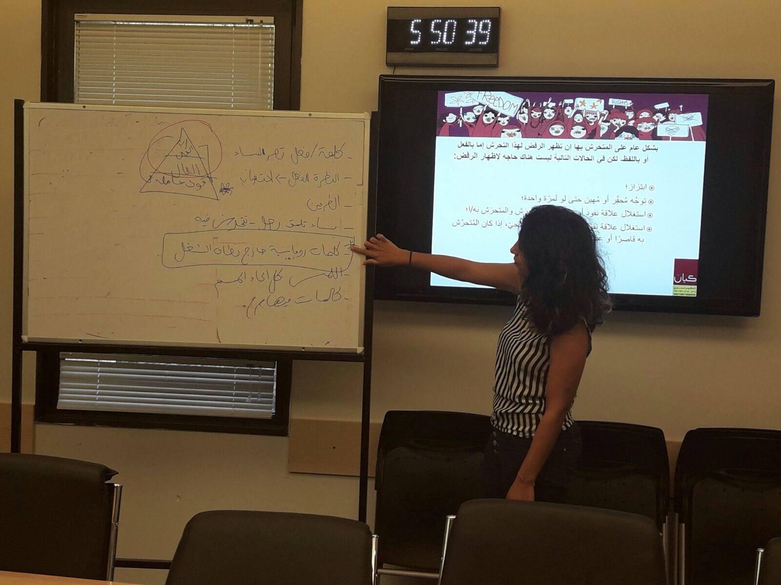"""""""كيان"""" تنظم ورشة تدريبية لموظفي القوى العاملة في مجلس التعليم العالي عن التحرش الجنسي بالعمل-0"""