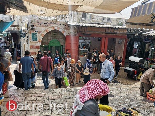 وسط إجراءات امنية مشددة...توافد المصلين الى المسجد الاقصى-0