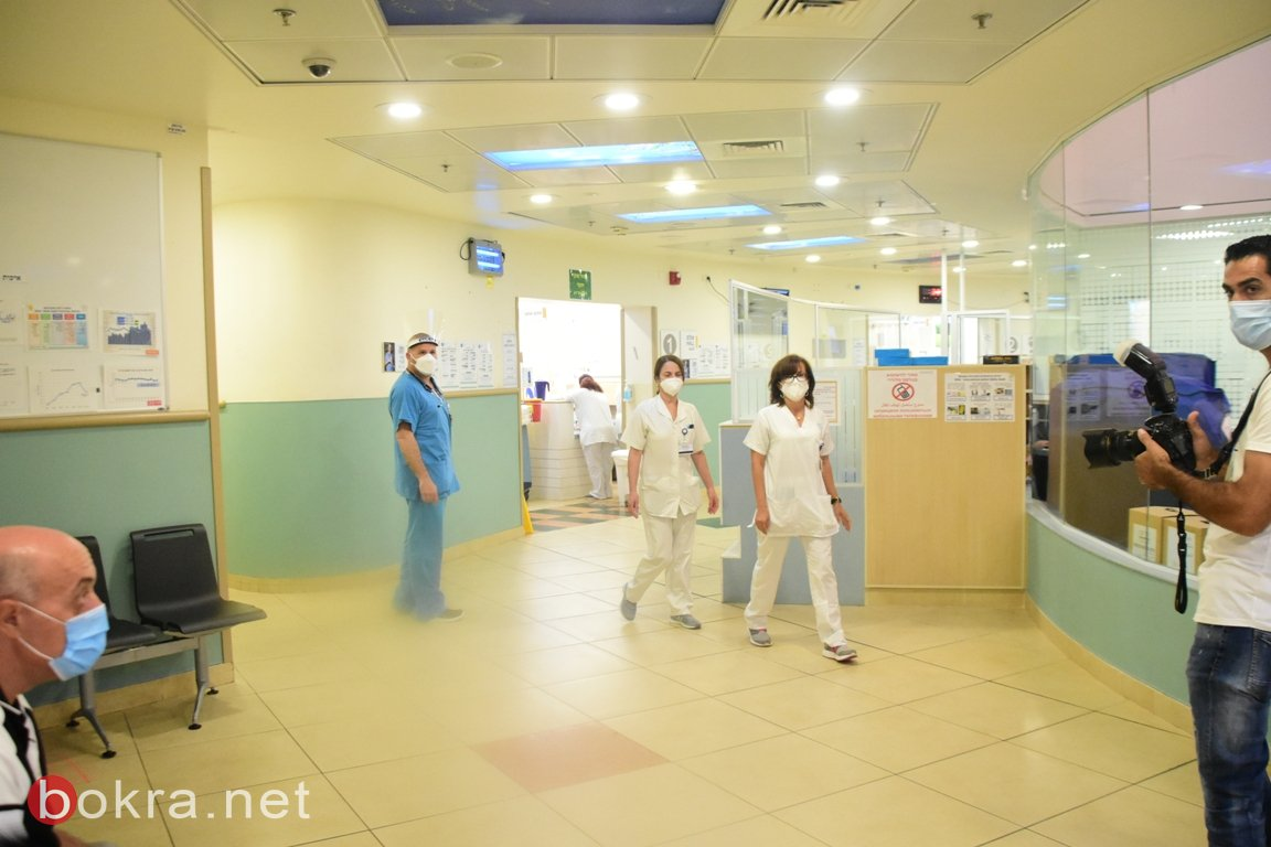 جامزو يزور مستشفى نهاريا، ويصرح لـبكرا: يكفي القاء اللوم على المجتمع العربي