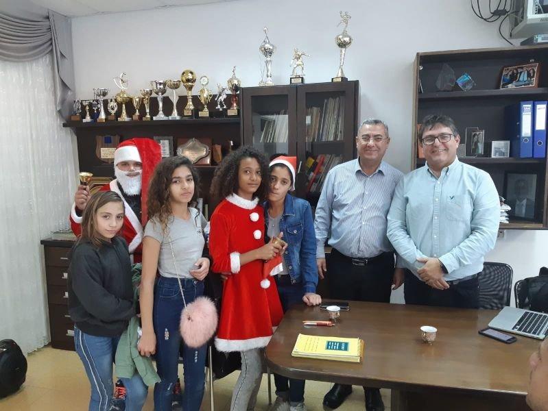 أجواء ميلادية وراس السنة الجديدة 2019 في مدرسة اورط على أسم حلمي الشافعي عكا