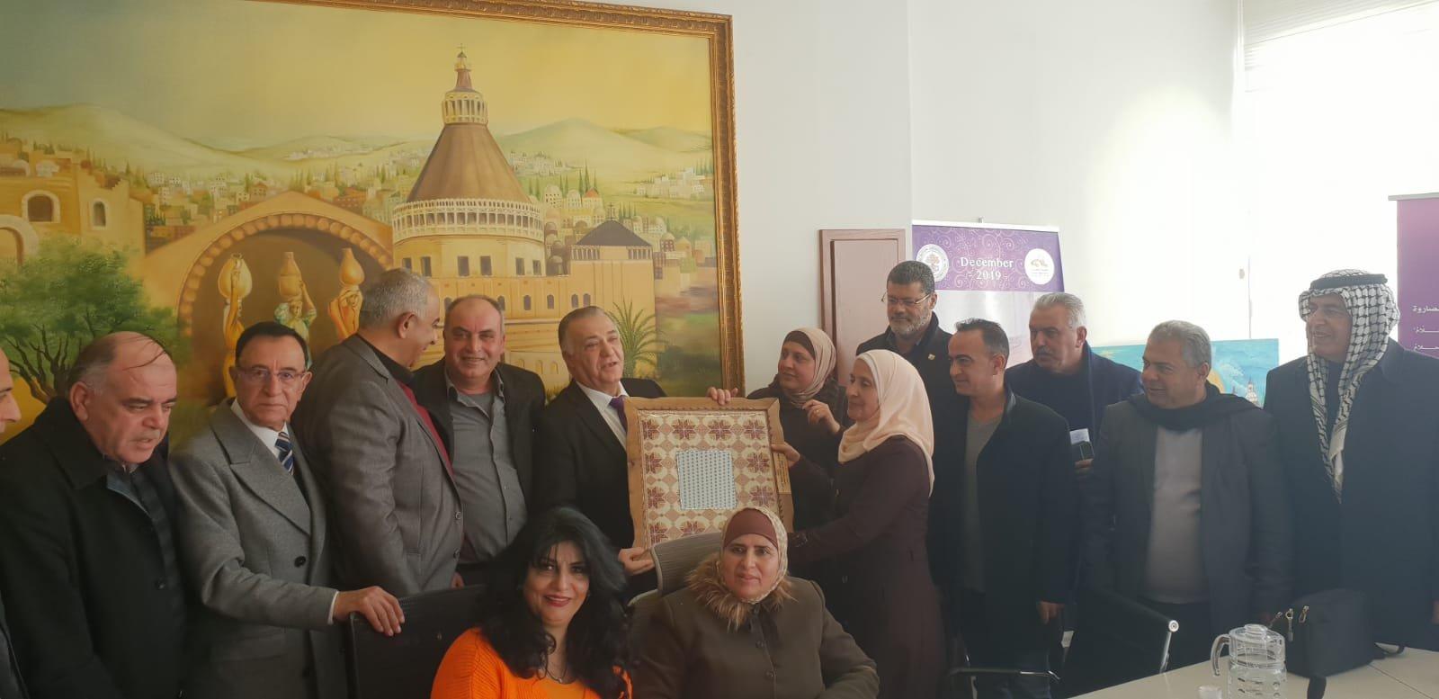 رئيس بلدية جنين فايز السعدي وأعضاء بلدية يزورون بلدية الناصرة-0