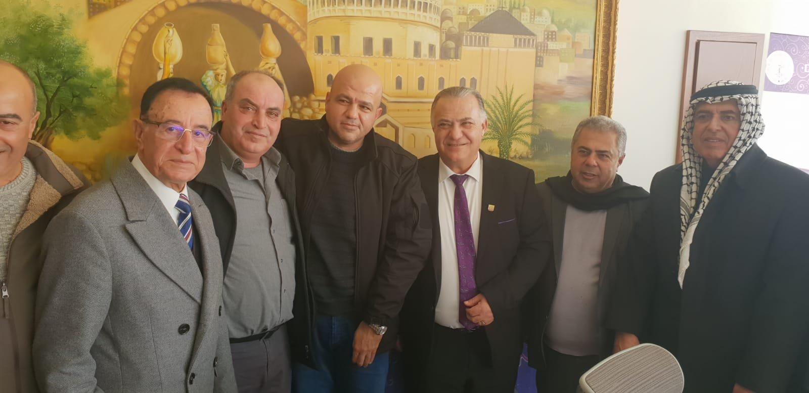 رئيس بلدية جنين فايز السعدي وأعضاء بلدية يزورون بلدية الناصرة-1