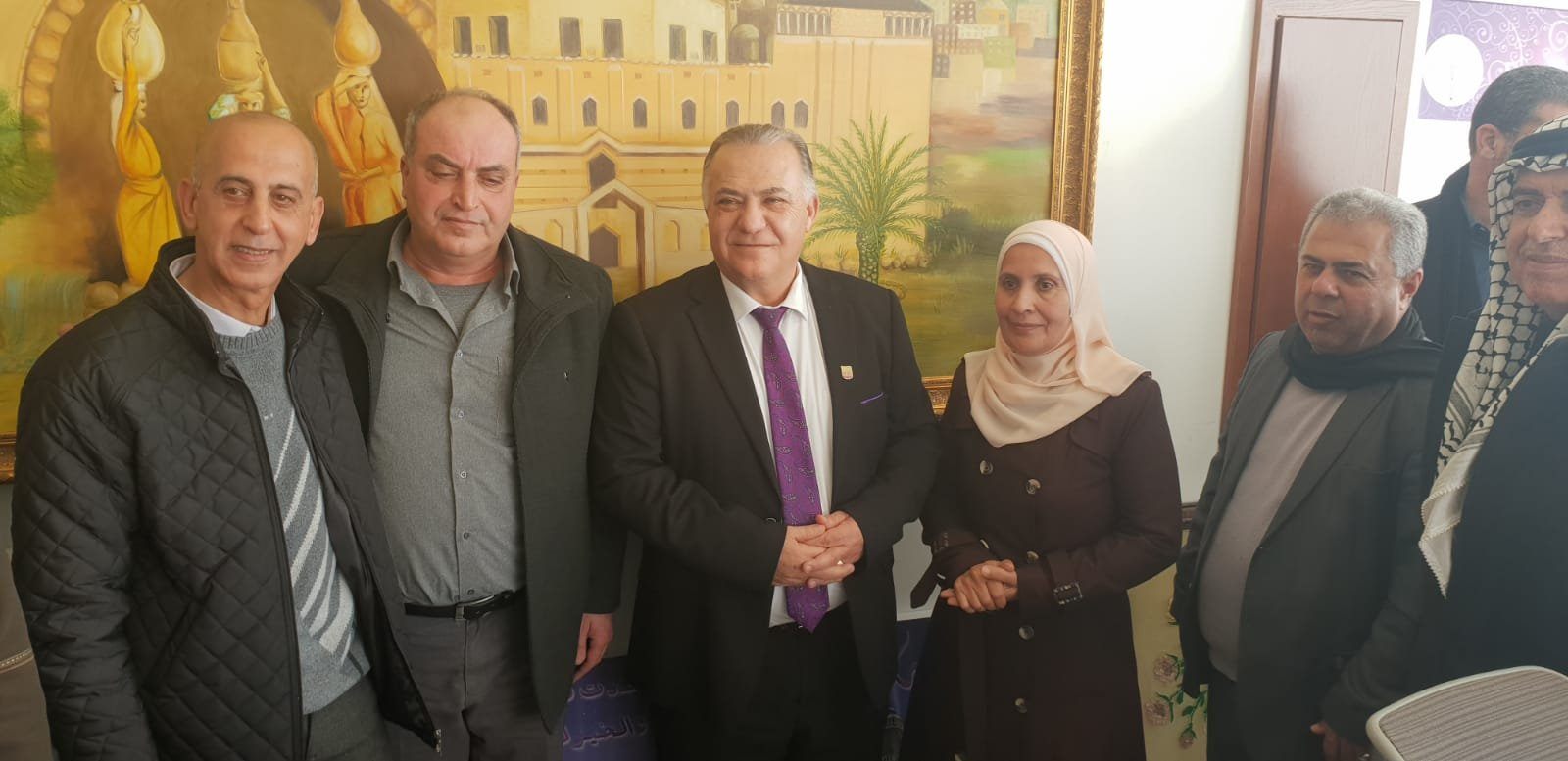 رئيس بلدية جنين فايز السعدي وأعضاء بلدية يزورون بلدية الناصرة-3