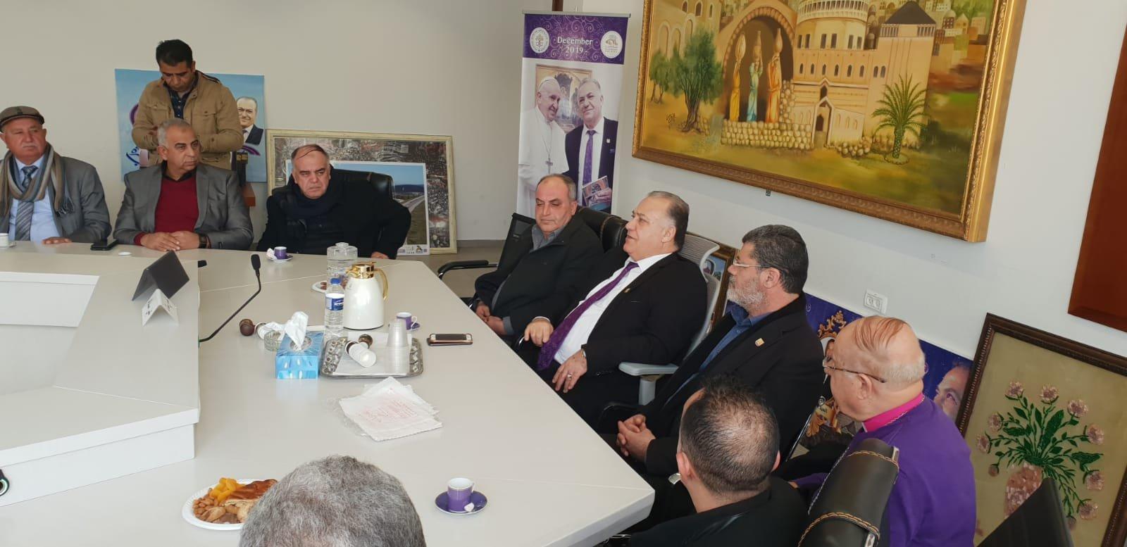 رئيس بلدية جنين فايز السعدي وأعضاء بلدية يزورون بلدية الناصرة-7