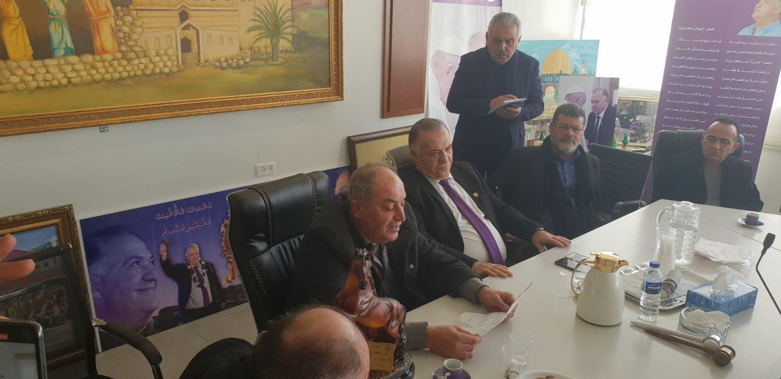 رئيس بلدية جنين فايز السعدي وأعضاء بلدية يزورون بلدية الناصرة-8