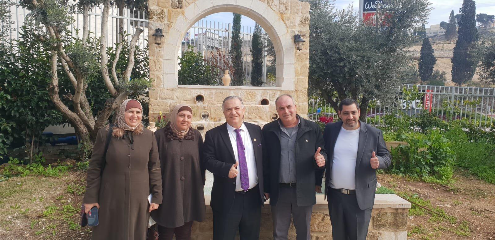 رئيس بلدية جنين فايز السعدي وأعضاء بلدية يزورون بلدية الناصرة-9