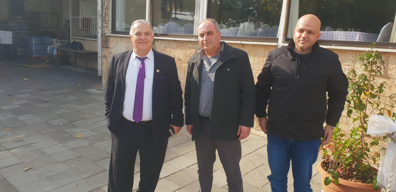 رئيس بلدية جنين فايز السعدي وأعضاء بلدية يزورون بلدية الناصرة-11