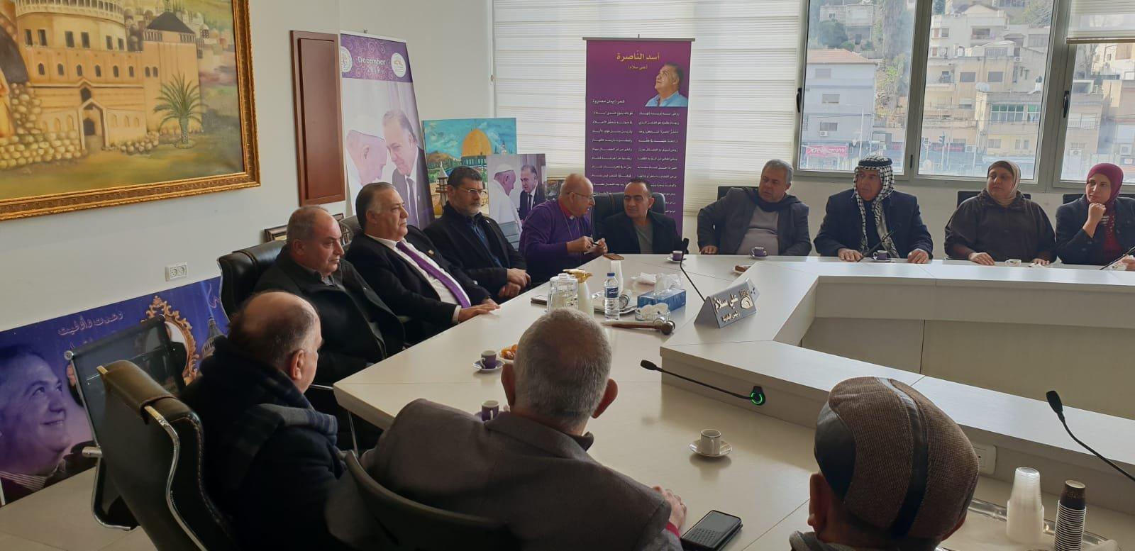 رئيس بلدية جنين فايز السعدي وأعضاء بلدية يزورون بلدية الناصرة-13