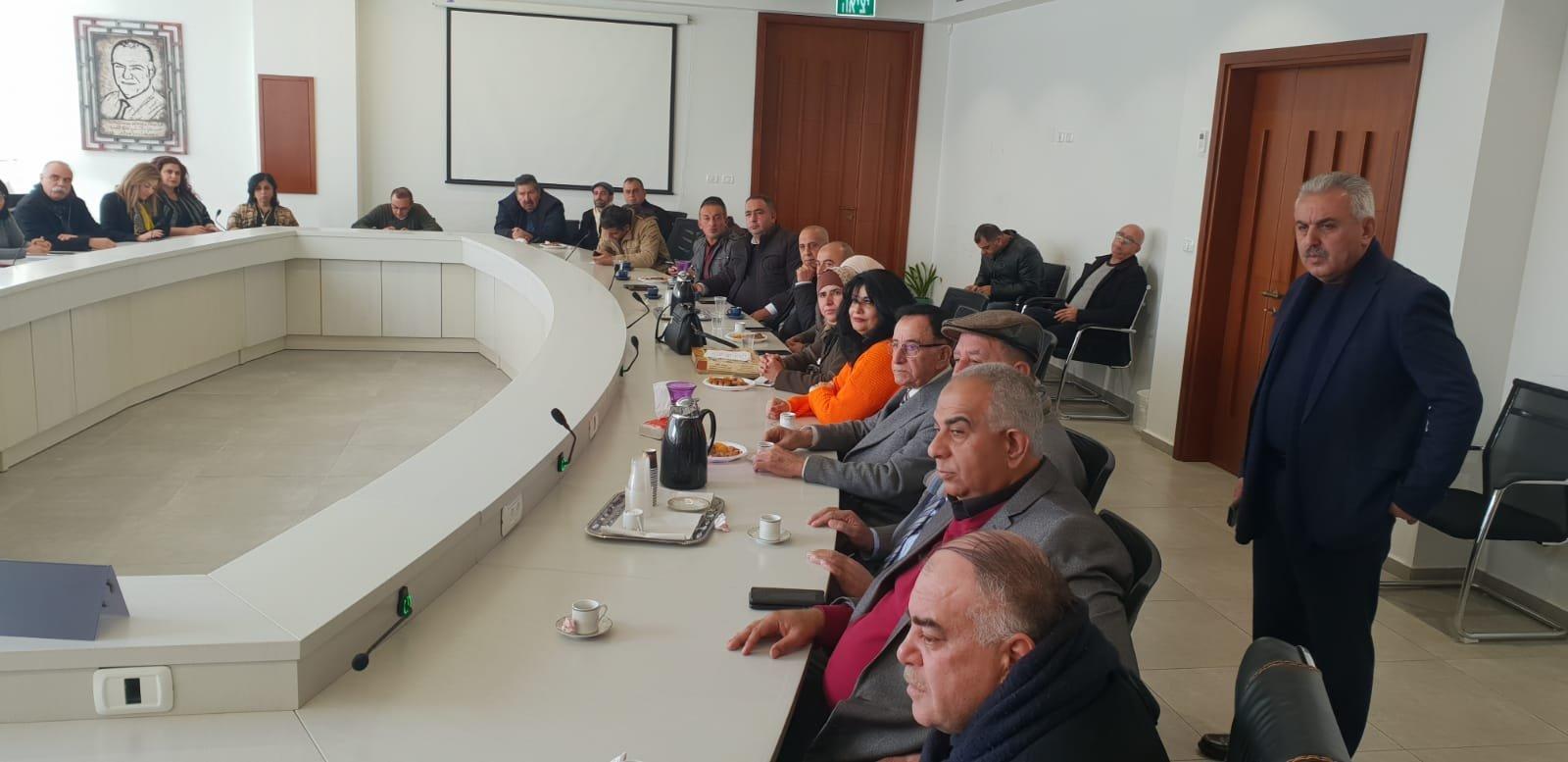رئيس بلدية جنين فايز السعدي وأعضاء بلدية يزورون بلدية الناصرة-14