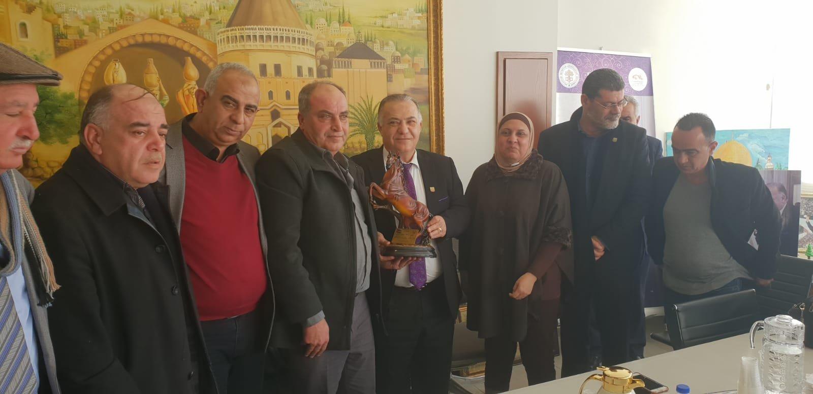 رئيس بلدية جنين فايز السعدي وأعضاء بلدية يزورون بلدية الناصرة-15