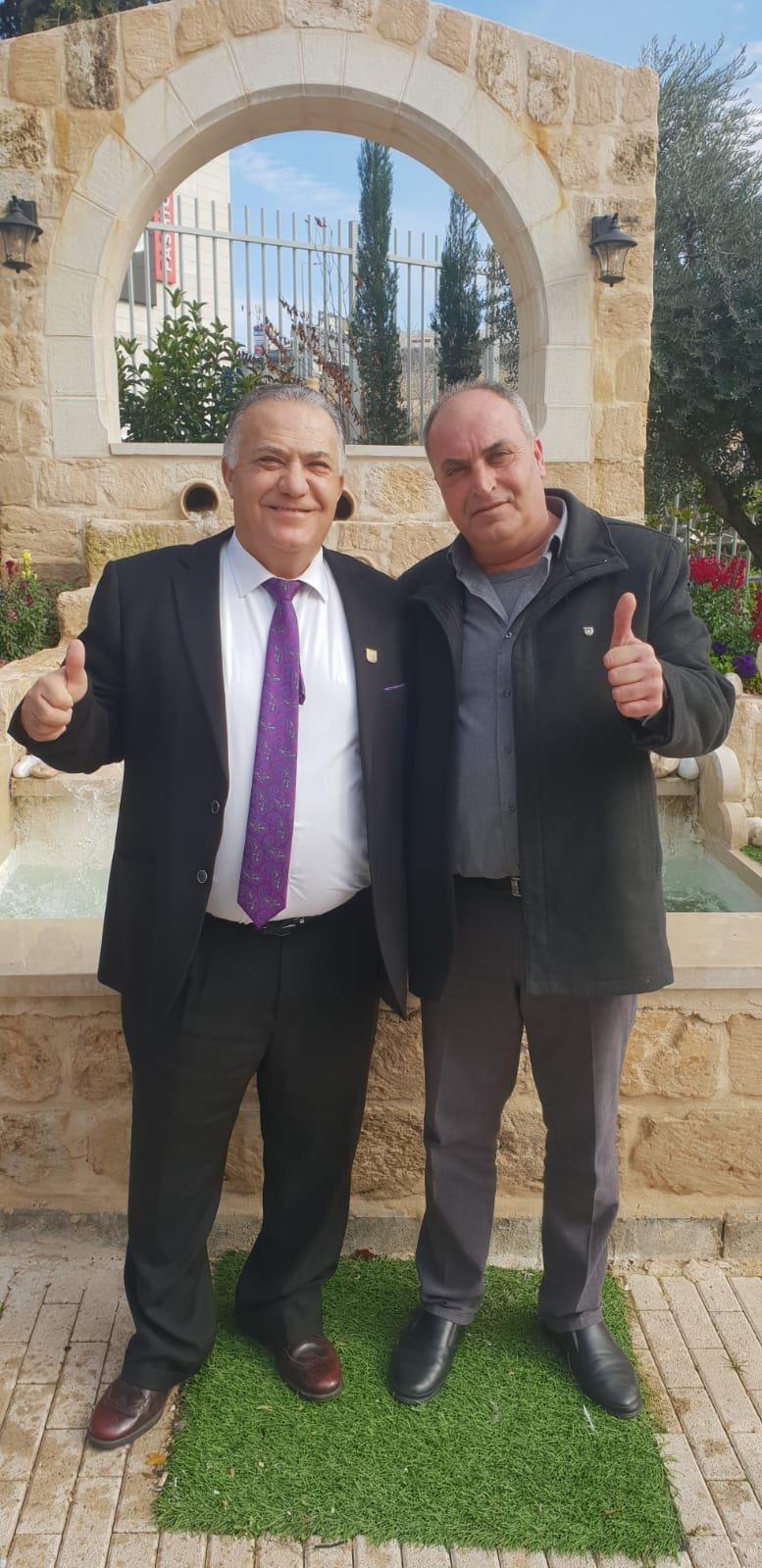 رئيس بلدية جنين فايز السعدي وأعضاء بلدية يزورون بلدية الناصرة-16