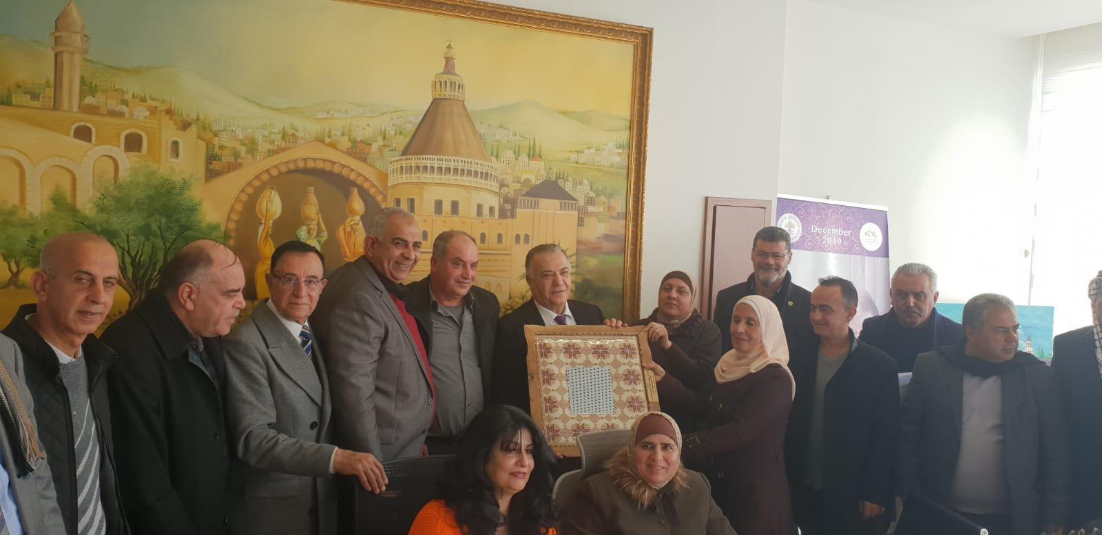 رئيس بلدية جنين فايز السعدي وأعضاء بلدية يزورون بلدية الناصرة-17