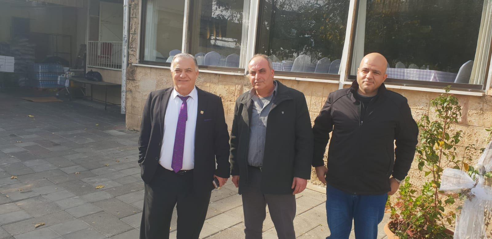 رئيس بلدية جنين فايز السعدي وأعضاء بلدية يزورون بلدية الناصرة-18