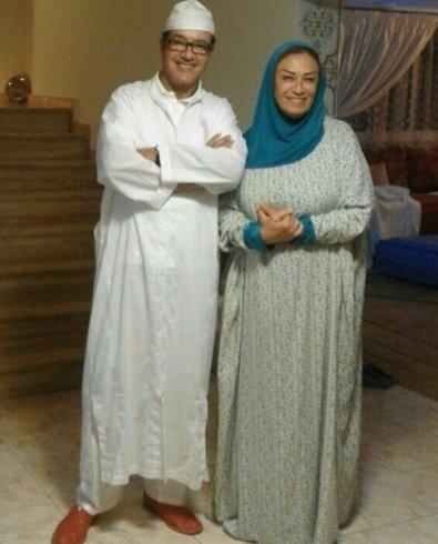 كيف أطل والدا سعد لمجرد في صلاة العيد؟