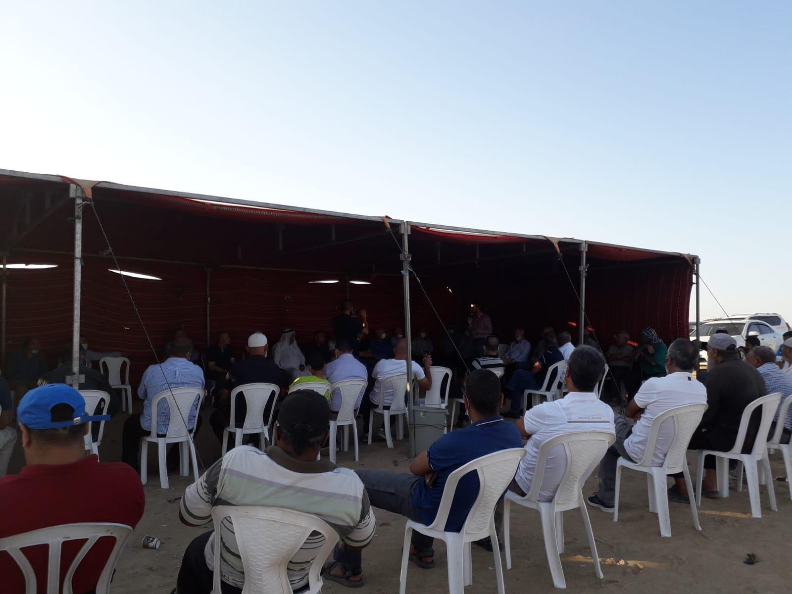 أمسية ثقافية في خيمة الاعتصام بخربة الوطن في النقب-0