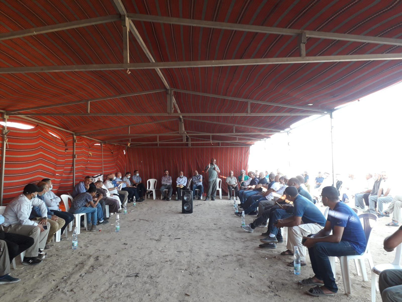 أمسية ثقافية في خيمة الاعتصام بخربة الوطن في النقب-1
