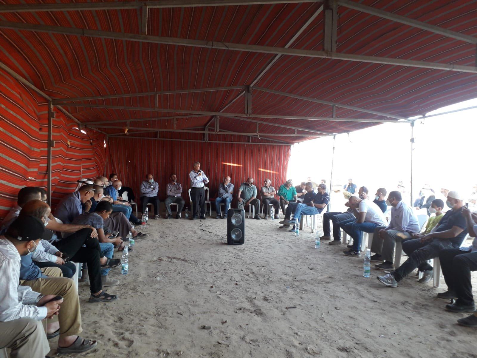 أمسية ثقافية في خيمة الاعتصام بخربة الوطن في النقب-2