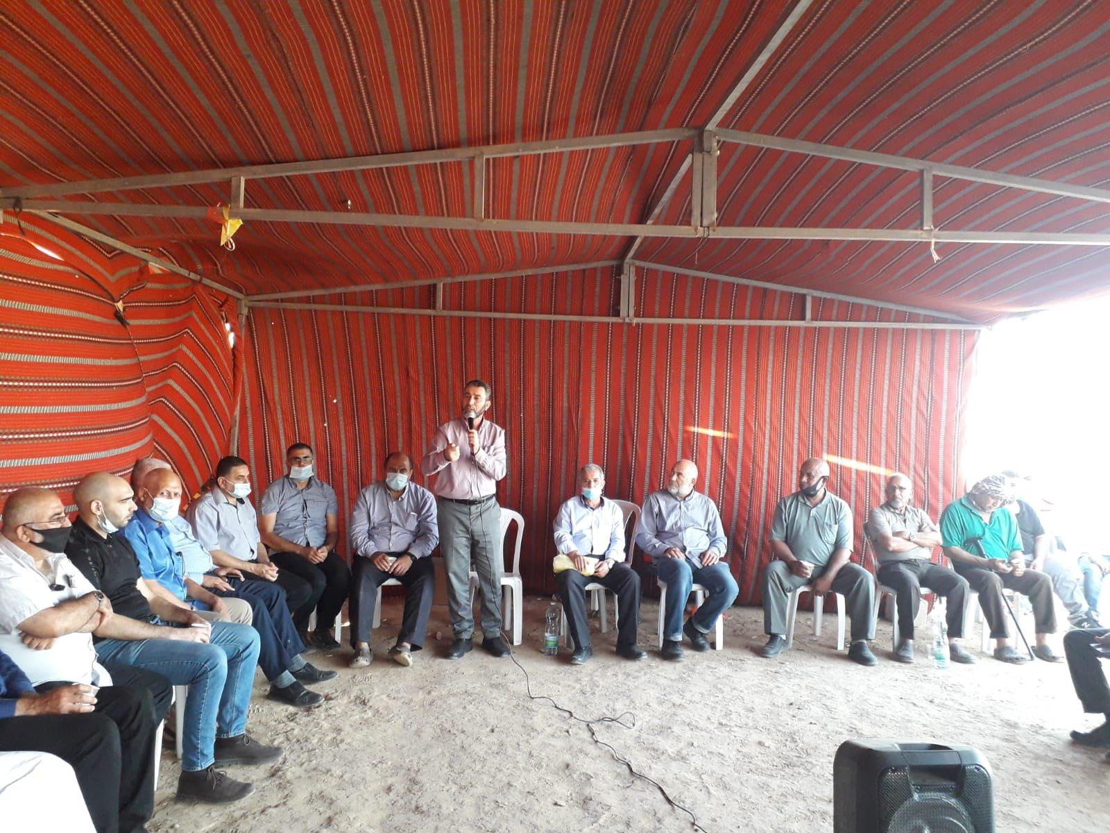 أمسية ثقافية في خيمة الاعتصام بخربة الوطن في النقب-3