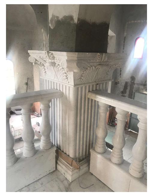 لوحة من الفسيفساء في الكنيسة الجديدة في كفرسميع