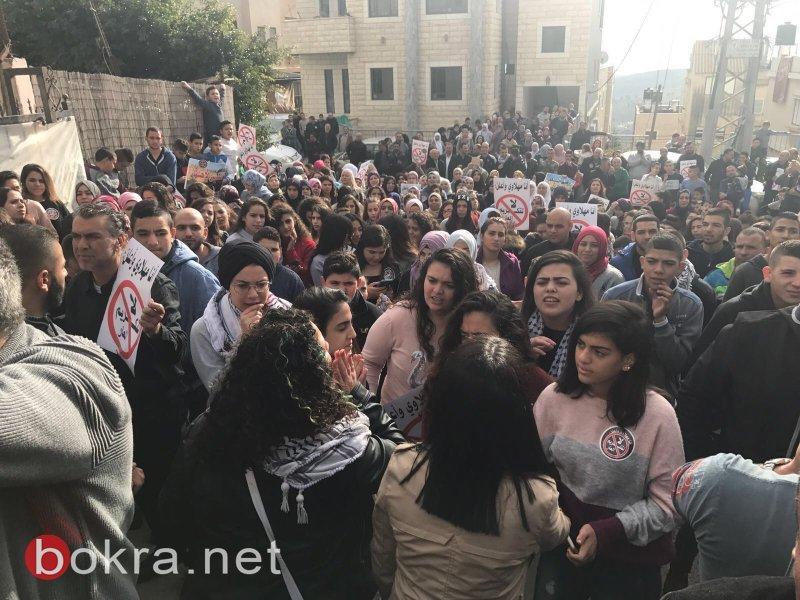 """نتنياهو في عين ماهل .. المجلس يستقبله والمئات في الخارج ينددون ويصيحون """"يا للعار""""-6"""