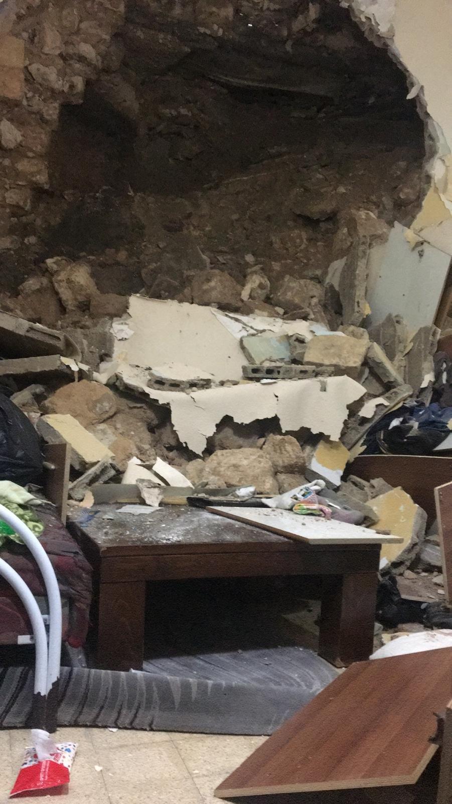 الناصرة: انهيار سقف منزل في الحي الشرقي بسبب الأمطار