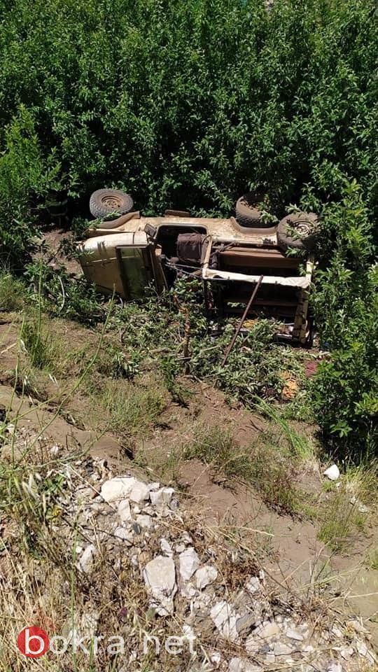 مصرع شاب (40 عاما) و5 اصابات اخرى بينهما خطيرة في حادث طرق قرب بركة رم