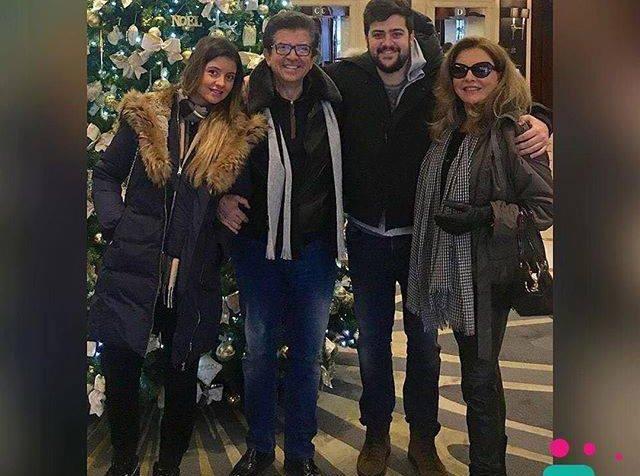 ابنة جورجينا رزق نسخة عنها ووالدها وليد توفيق يحتفل بعيد ميلادها
