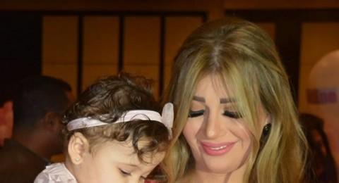 بالصور..يارا نعوم وعماد متعب يحتفلون بعقيقة إبنتهم الثانية