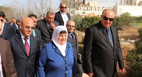 وزيرة التربية والتعليم العالي الدكتورة الشخشير تزور الجامعة العربية الأمريكية