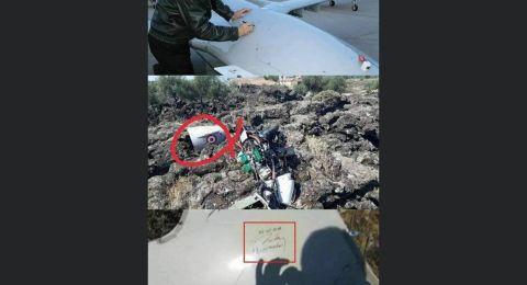 توقيع أردوغان الشخصي على حطام هيكل طائرة أسقطها الجيش السوري فوق إدلب