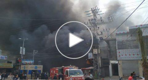 بينهم ثلاث سيدات.. مصرع تسعة مواطنين جراء حريق وسط قطاع غزة