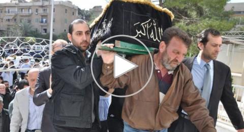 بالصور… جنازة الفنان خالد تاجا في دمشق