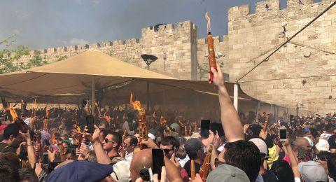 الاحتفال بخروج النور من القبر المقدس في كنيسة القيامة