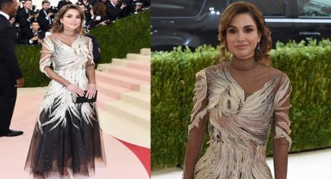 الملكة رانيا للمرّة الأولى في حفل Met Gala 2016 بإطلالةٍ أنيقة ومعاصرة