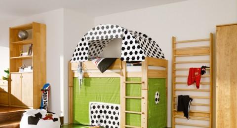 غرف نوم للأطفال من وحي ملاعب كرة القدم