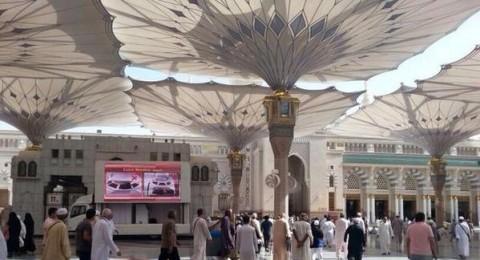 شاشات عملاقة لتوعية الزوار في المسجد النبوي