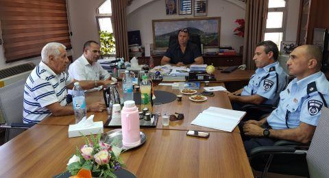 الشبلي أم الغنم: اجتماع هام بين إدارة المجلس وشرطة العفولة