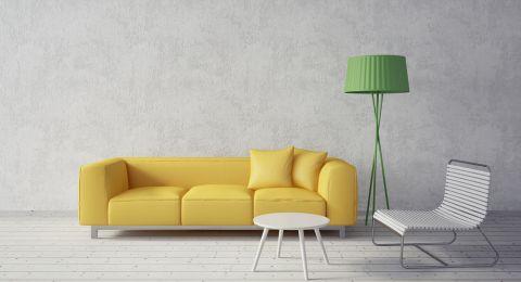 الأصفر في ديكورات المنزل