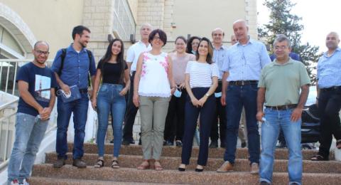 وزيرة العلوم اوريت فركش تزور جمعية الجليل