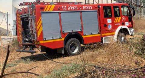 الجليل: اندلاع حريق في أحراش بمنطقة كفار جلعادي - مسغاف عام