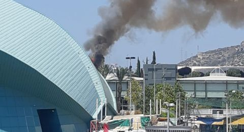 حيفا: اندلاع حريق في مساحات أشواك قرب أنفاق الكرمل