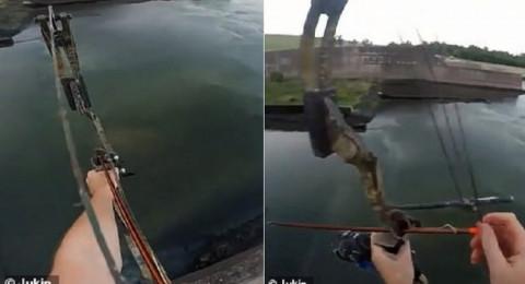 شاهد: أغرب صيد لسمكة على بُعد 23 مترًا