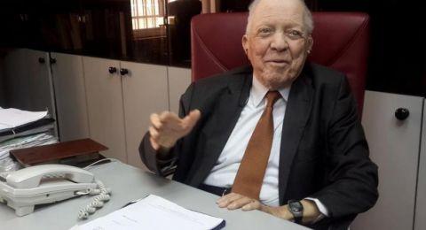 وفاة أقدم محامٍ في العالم المحامي فؤاد شحادة ابن مدينة رام الله