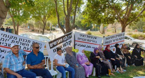 ابطن: الأهالي يتظاهرون من أجل ابطال مشروع منطقة التخزين