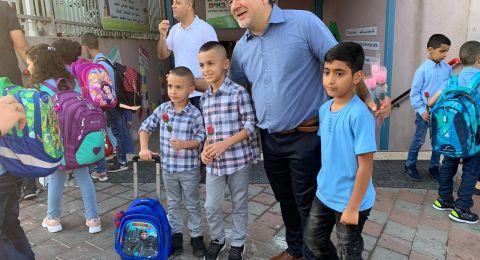 النائب يوسف جبارين يزور المدارس مهنّئاً بافتتاح العام الدراسي