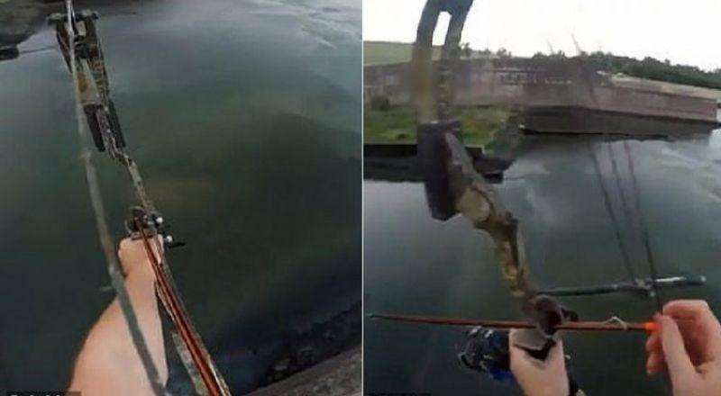أغرب صيد لسمكة على بُعد 23 مترًا